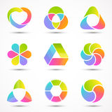 Logo templates set. Modern vector abstract circle Royalty Free Stock Images