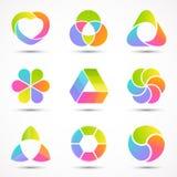 Logo templates set. Modern vector abstract circle. Modern vector creative abstract design symbol, sign vector illustration