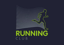 Logo Templates translucent silhouettes of people Running Royalty Free Stock Images
