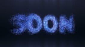 Logo texto da partícula ilustração do vetor
