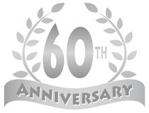 Sixtieth Anniversary Banner/eps Royalty Free Stock Images