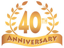 Fortieth Anniversary Banner/eps Stock Photography