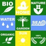 Logo on the theme of nature Royalty Free Stock Photos