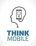 Logo - think mobile Stock Photography