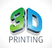 Logo - three dimensional printing Stock Photos