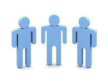 Logo three people. Logotype -Three Mens over white background Stock Images