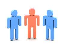 Logo three people. Logotype -Three Mens over white background Royalty Free Stock Photography