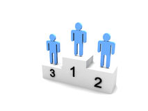 Logo Three people on podium Royalty Free Stock Photo