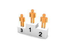 Logo Three people on podium Stock Image