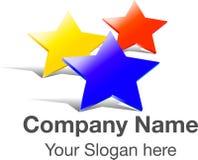 Logo three stars Royalty Free Stock Image