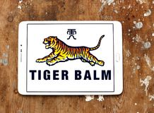 Tiger Balm brand logo. Logo of Tiger Balm brand on samsung tablet. Tiger Balm is the trademark for a heat rub manufactured and distributed by Haw Par Healthcare Stock Images
