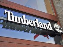 Logo Timberland statku flagowego sklep Zdjęcie Stock