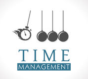 Logo - Time management Royalty Free Stock Images