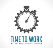 Logo - time to work. Start your business now Royalty Free Stock Images