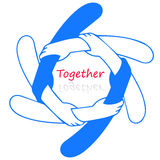 Logo for together Stock Photos