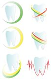 Logo tooth. Different versions of logos with a tooth Stock Photos