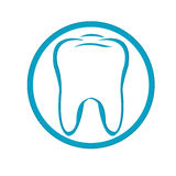 Logo Tooth. Vector Royalty Free Stock Photography