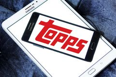 Topps company logo. Logo of Topps company on samsung mobile. The Topps Company, Inc., manufactures chewing gum, candy, and collectibles. Topps is producer of Royalty Free Stock Image