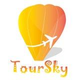 Logo tour sky stock images