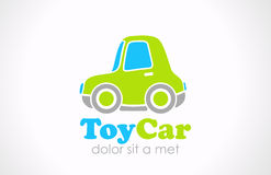 Logo Toy car fun vector. Funny micro machine icon  Stock Photography
