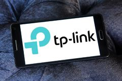 TP-Link company logo. Logo of TP-Link company on samsung mobile. TP-Link is a Chinese manufacturer of computer networking products Royalty Free Stock Images