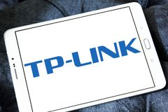 TP-Link company logo. Logo of TP-Link company on samsung tablet. TP-Link is a Chinese manufacturer of computer networking products Royalty Free Stock Images