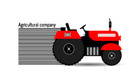 Logo tractor,agricultural company Stock Image