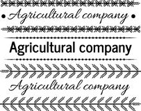 Logo tractor,agricultural company Royalty Free Stock Image