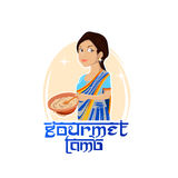 Logo Traditional Indian Food Foto de archivo