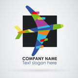Logo travel abstract colors Royalty Free Stock Image
