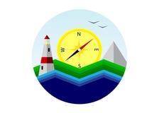 Logo travel. Royalty Free Stock Images