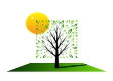 Logo tree. Royalty Free Stock Photography
