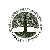 Logo tree. organic, Natural product. Nature or ecology symbol. Environmentally friendly icon Royalty Free Stock Photography