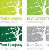 Logo tree silhouette. Logo for your company. Green tree silhouette Royalty Free Stock Images