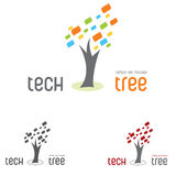 Logo tree tech Royalty Free Stock Image