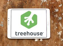 Treehouse company logo. Logo of Treehouse company on samsung tablet. Treehouse is an online technology school that offers beginner to advanced courses in web royalty free stock images