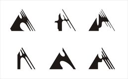 Logo triangle Stock Images