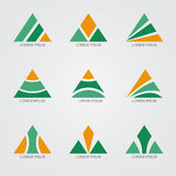 Logo Triangle Royaltyfri Bild