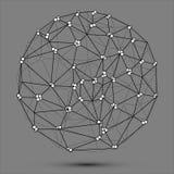 Logo triangulaire de sphère Image stock