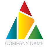 Logo triangulaire multicolore Photographie stock libre de droits