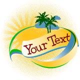 Logo tropical de vacances Photos stock