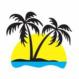 Logo of the tropical island. Royalty Free Stock Photos