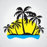 Logo of the tropical island. Stock Images