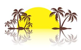 Logo of the tropical island. Royalty Free Stock Photo