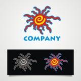 Logo tropicale di Sun Fotografie Stock Libere da Diritti