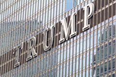 Logo on the Trump tower in Chicago Stock Images