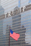 Logo on the Trump tower in Chicago Stock Image