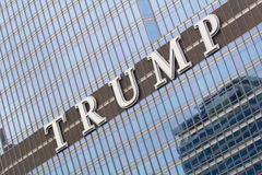 Logo on the Trump tower in Chicago Royalty Free Stock Photos