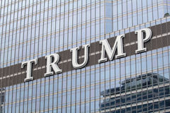 Logo on the Trump tower in Chicago Royalty Free Stock Image