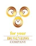logo trzy Zdjęcie Royalty Free